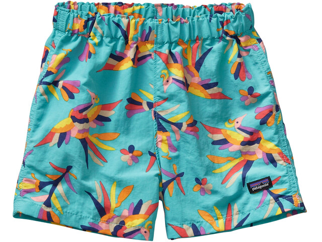 Patagonia Baby Baggies Shorts Folk Tails: Howling Turquoise
